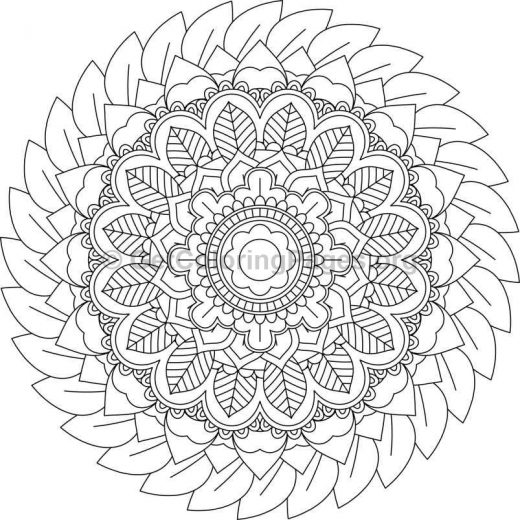 Flower Abstract Coloring Pages : Flower mandala coloring pages #81 u2013 getcoloringpages.org