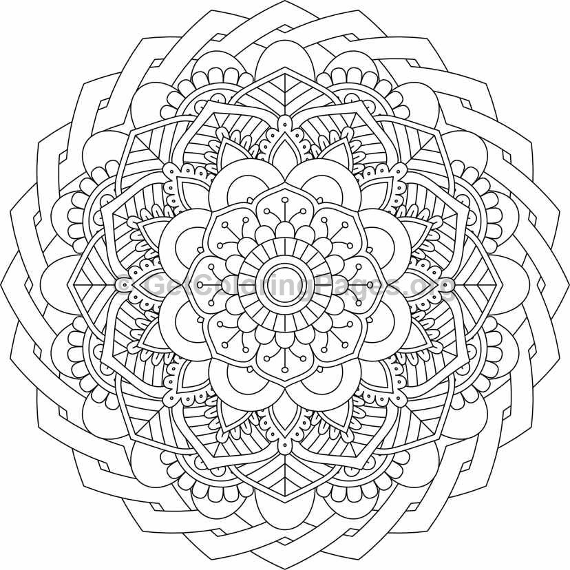 flower mandala coloring pages  15  u2013 getcoloringpages org