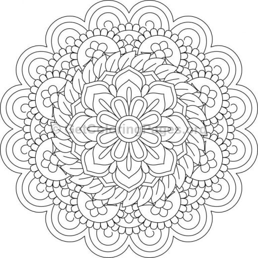 Flower Abstract Coloring Pages : Flower mandala coloring pages #126 u2013 getcoloringpages.org