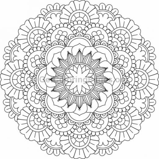 Flower Abstract Coloring Pages : Flower mandala coloring pages #229 u2013 getcoloringpages.org