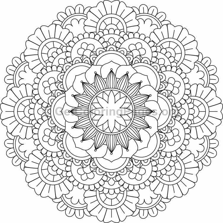 Flower Mandala Coloring Pages 19 Getcoloringpages Org