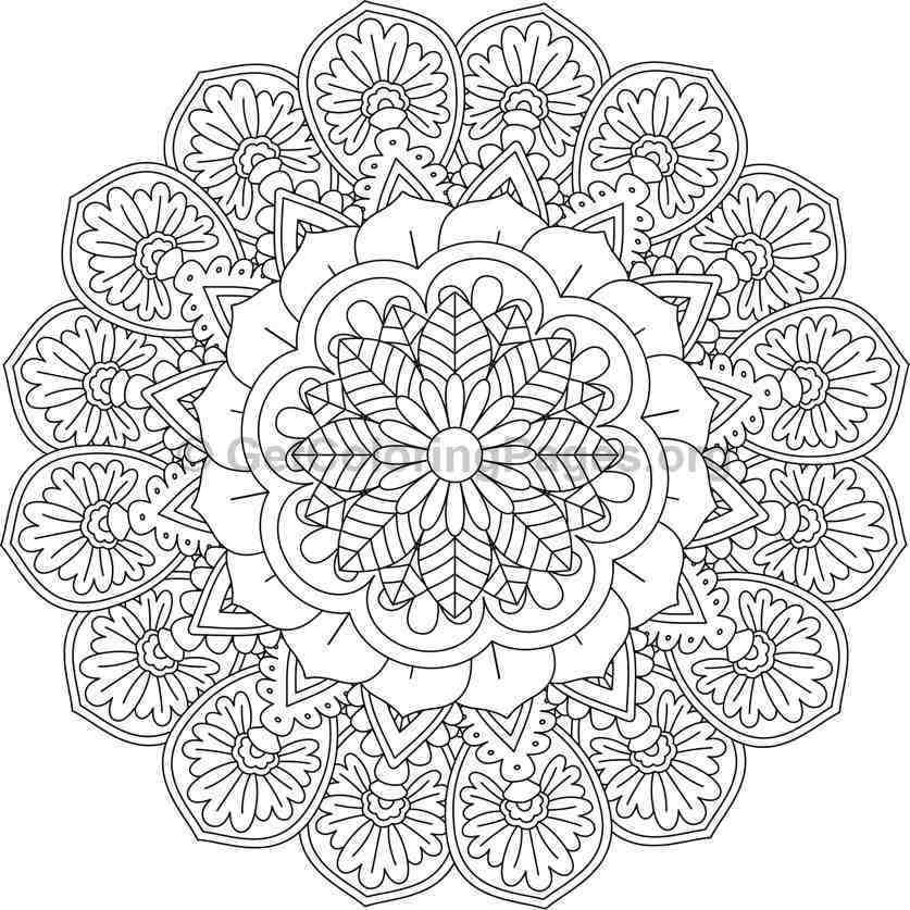 Flower Mandala Coloring Pages 22 Getcoloringpages Org