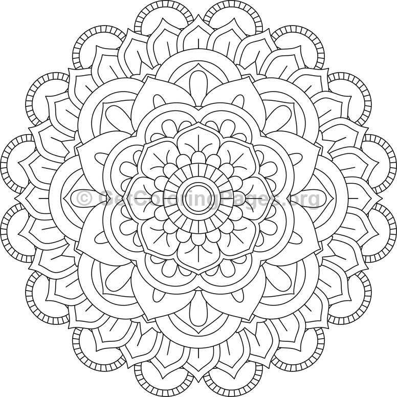 Flower Mandala Coloring Pages 23