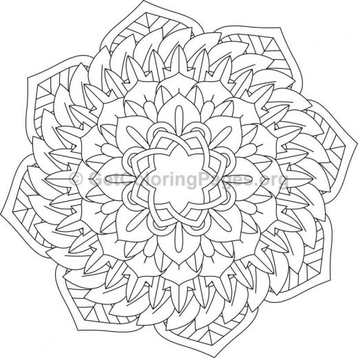 Flower Abstract Coloring Pages : Flower mandala coloring pages #84 u2013 getcoloringpages.org