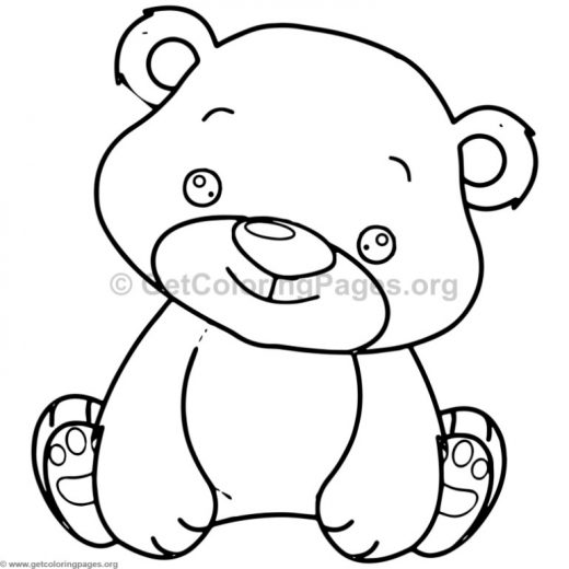 cute baby bear animal coloring pages - Mystery Pictures Coloring Pages