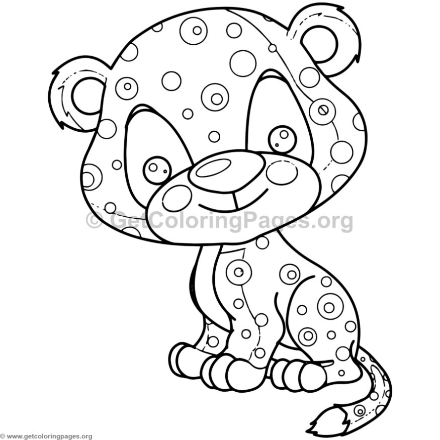Cute Baby Jaguar Animal Coloring Pages GetColoringPages