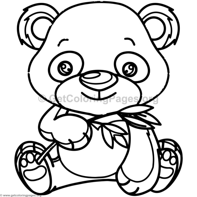 baby panda coloring page - cute baby panda animal coloring pages