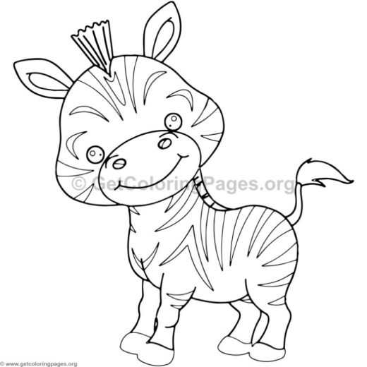 cute baby zebra animal coloring pages