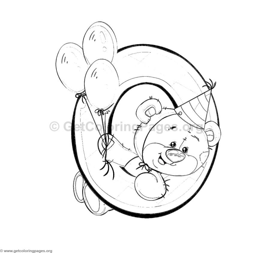 Teddy Bear Number Zero Coloring Pages Getcoloringpages Org