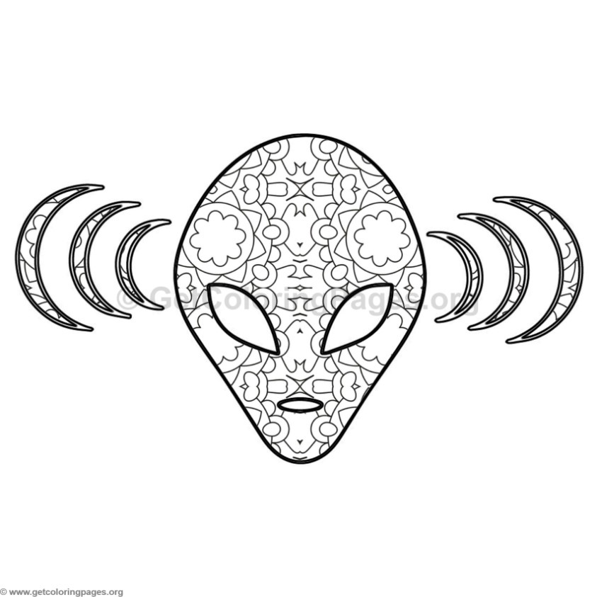 alien coloring pages 7 getcoloringpages org