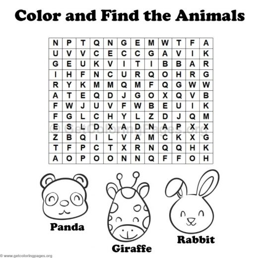 Animal Word Search Coloring Pages 11