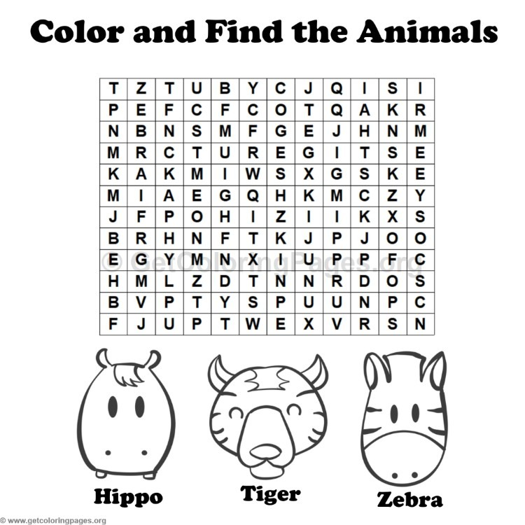 animal word search coloring pages 8