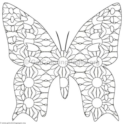 detailed butterfly coloring pages GetColoringPagesorg