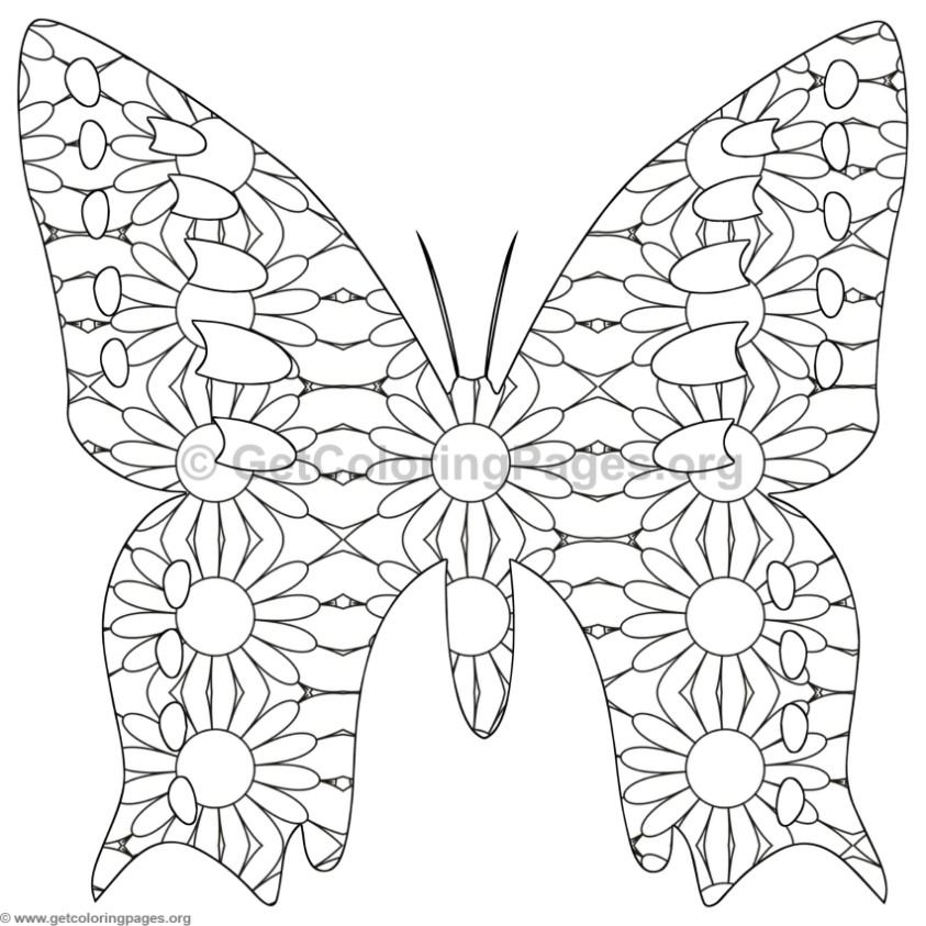 butterfly coloring pages 2 - Butterflies Coloring Pages 2