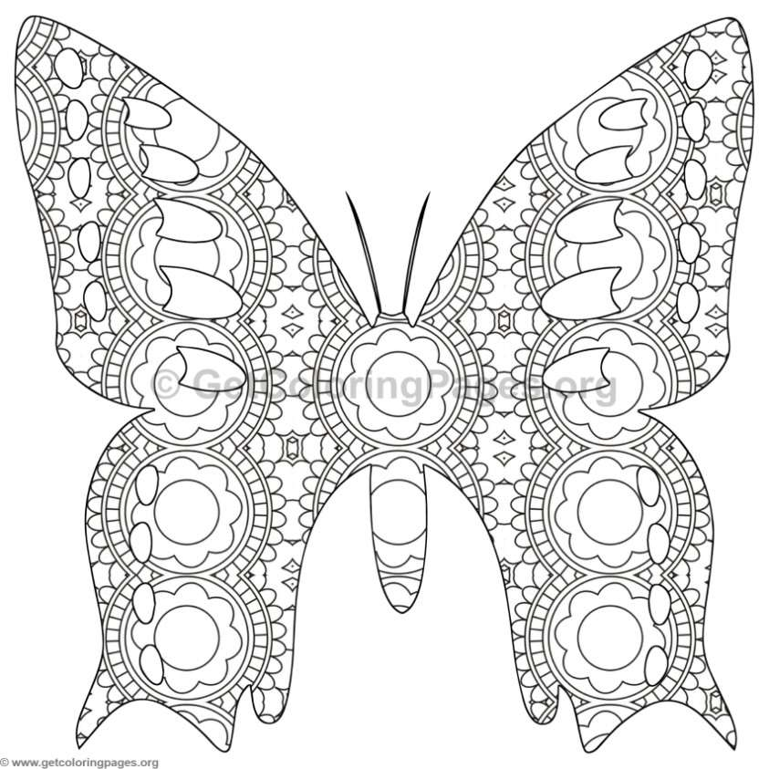 Butterfly Coloring Pages #3 - GetColoringPages.org