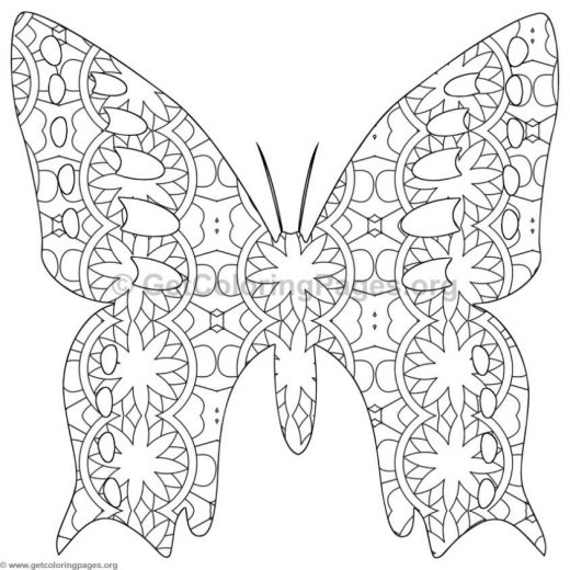 Butterfly Coloring Pages 8