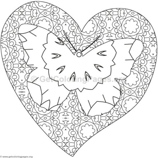monarch butterfly heart coloring