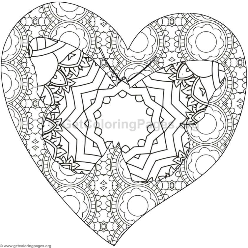 Butterfly and Heart Coloring Pages #3 - GetColoringPages.org