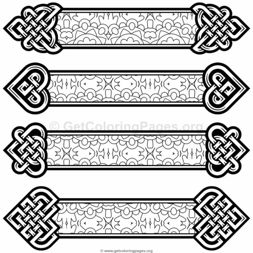 Celtic Knot Bookmarks Coloring Pages #1 – GetColoringPages.org