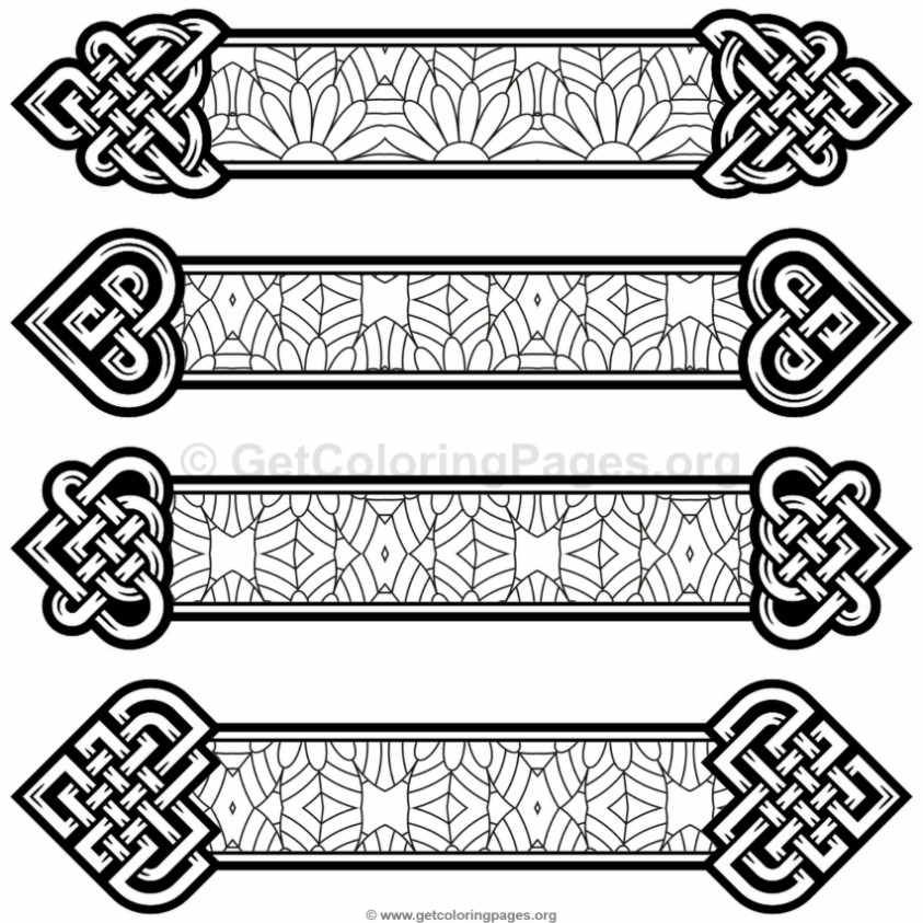 Celtic Knot Bookmarks Coloring Pages 10