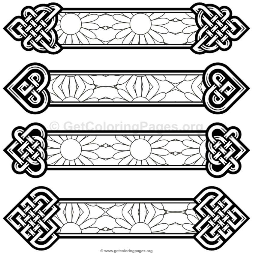Celtic knot bookmarks coloring pages 2