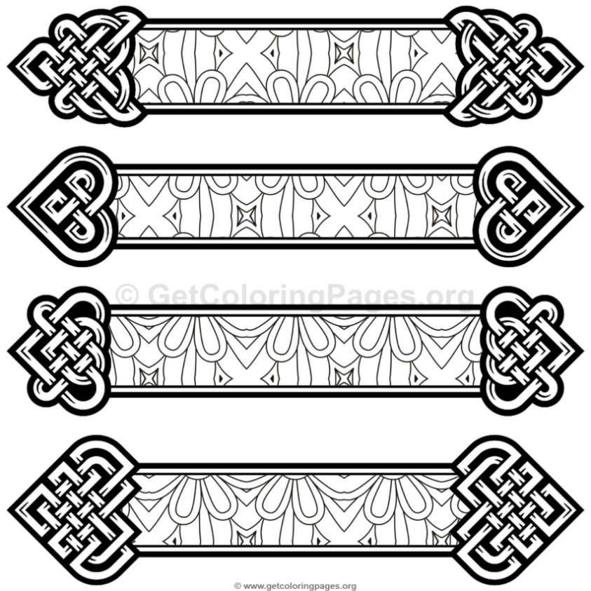 Celtic Knot Bookmarks Coloring Pages 4 Getcoloringpages Org