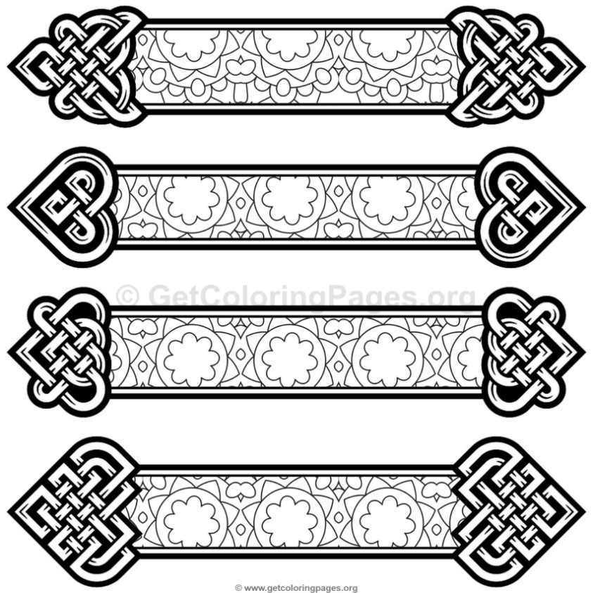 Celtic Knot Bookmarks Coloring Pages #7 – GetColoringPages.org