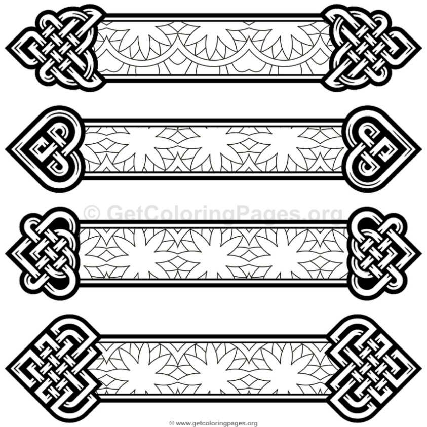 Celtic Knot Bookmarks Coloring Pages 8 Getcoloringpages Org