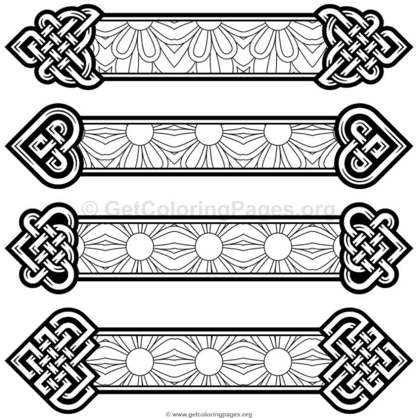 Celtic Knot Bookmarks Coloring Pages 9