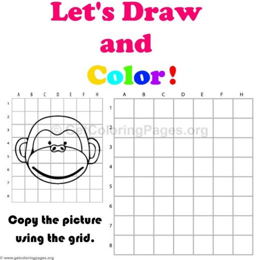 monkey coloring pages pdf GetColoringPagesorg