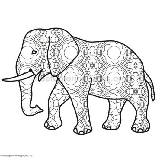 elephant coloring pages 3