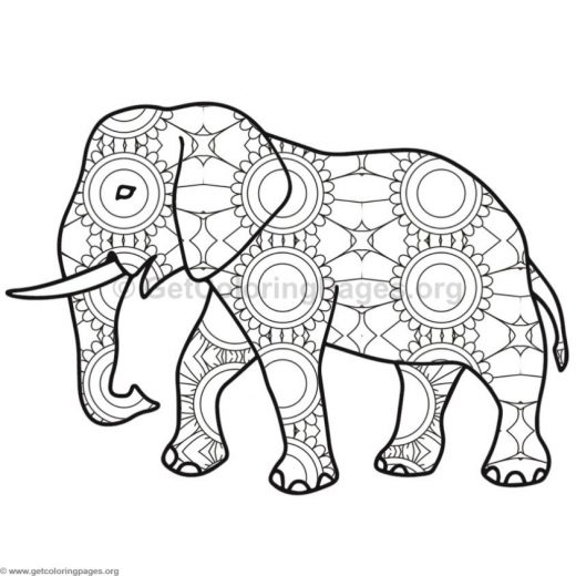 elephant coloring pages 5