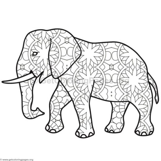 Elephant Coloring Pages 8