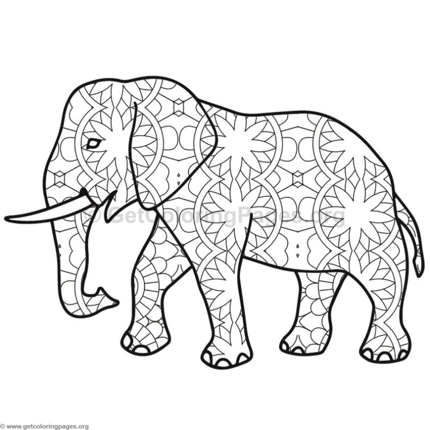 Elephant coloring pages 8 for Elephant coloring pages