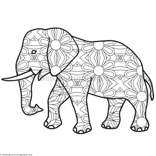 elephant coloring pages 9