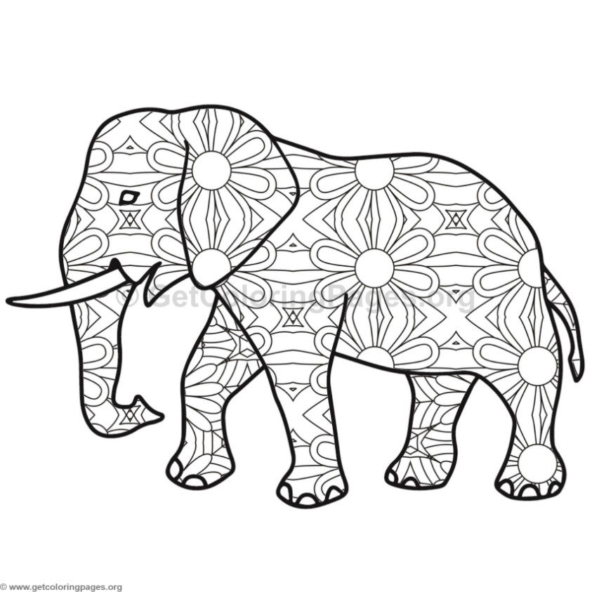 Elephant coloring pages 9 for Elephant coloring pages