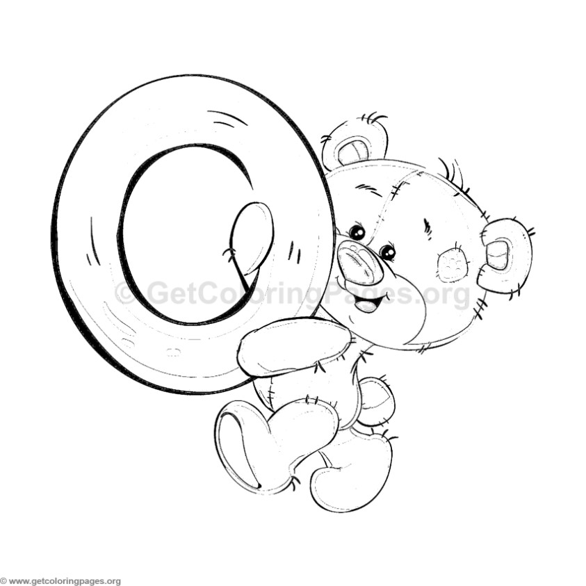 Teddy Bear Alphabet Letter O Coloring Pages