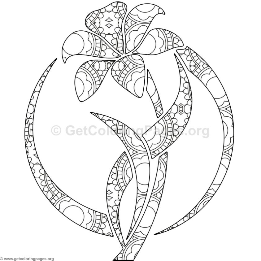 Lily Flower Coloring Pages 3