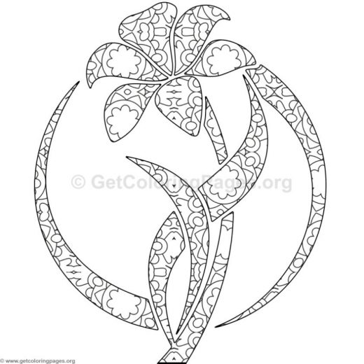 flower coloring pages pdf GetColoringPagesorg