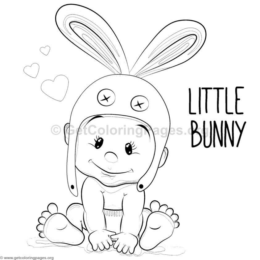 Little Bunny Boy Coloring Pages