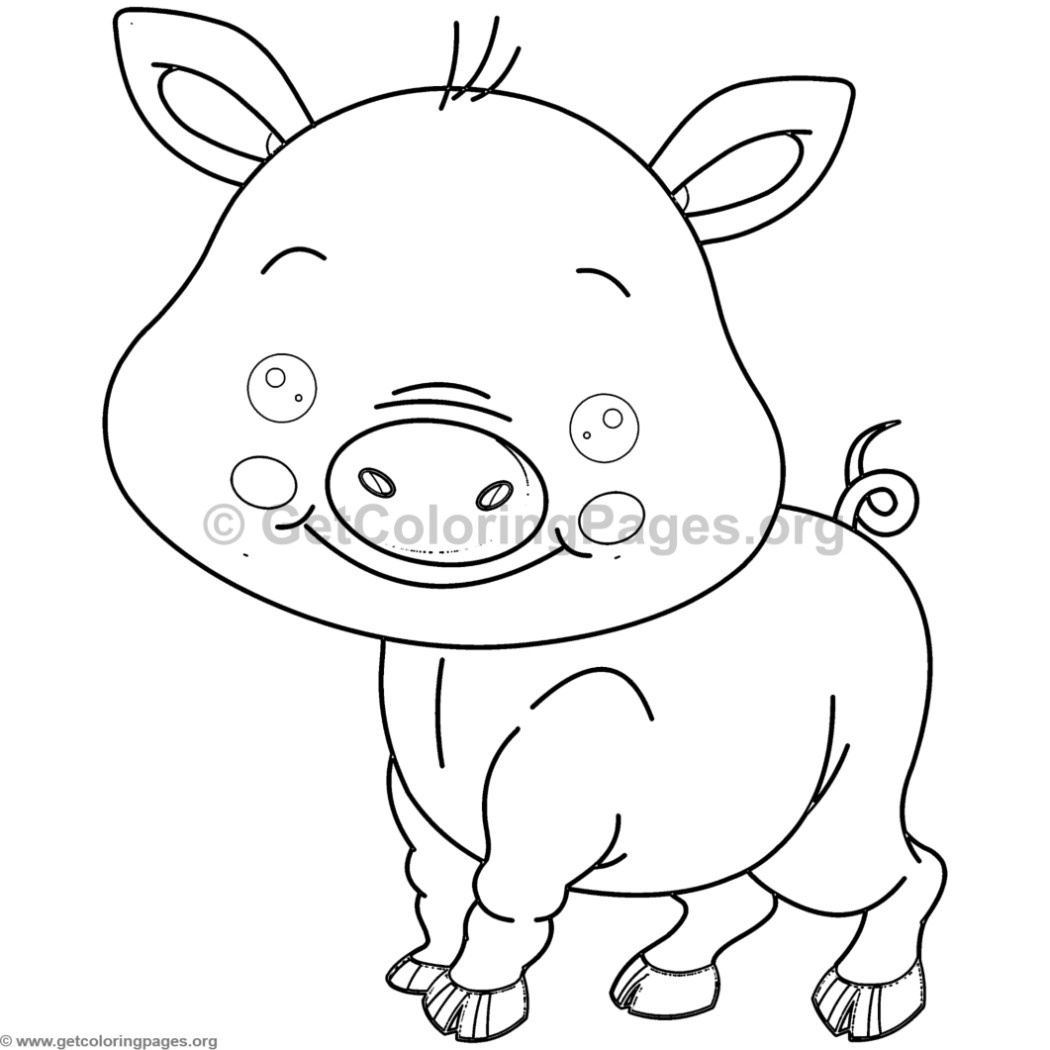 cute little pig animal coloring pages u2013 getcoloringpages org