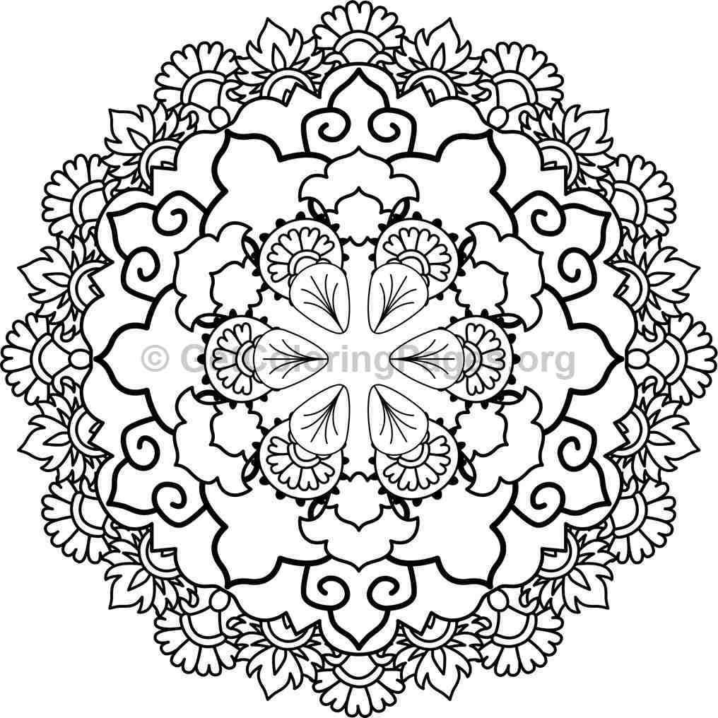 Mandala Coloring Pages 12 Getcoloringpages Org