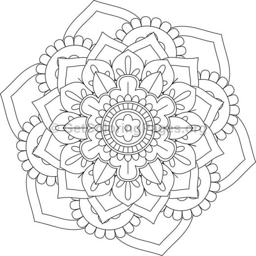 Flower Abstract Coloring Pages : Flower mandala coloring pages #430 u2013 getcoloringpages.org