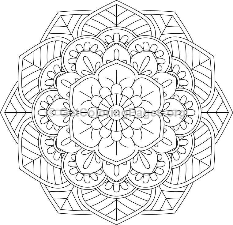 Flower Mandala Coloring Pages 41