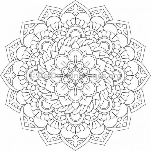 Flower Abstract Coloring Pages : Flower mandala coloring pages #443 u2013 getcoloringpages.org