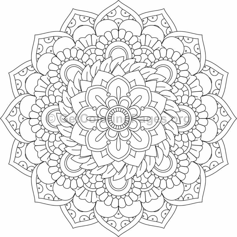 Flower Mandala Coloring Pages 52 Getcoloringpages Org