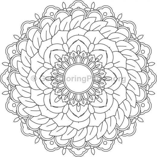 Flower Mandala Coloring Pages 62