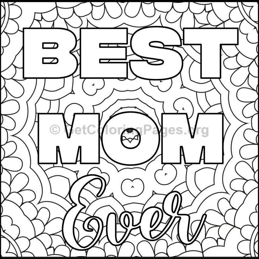 mothers day coloring pages 10