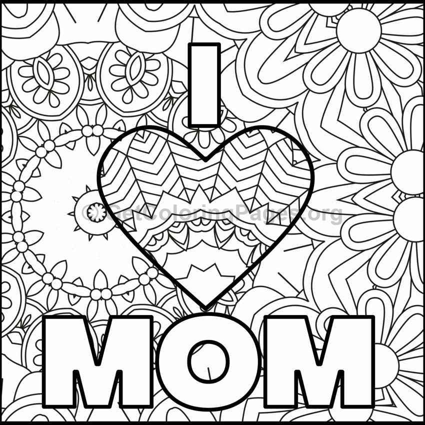 Motheru0027s Day Coloring Pages #7