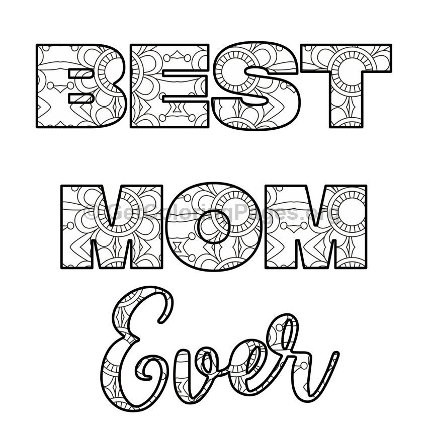 Mother\'s Day Coloring Pages #9 – GetColoringPages.org